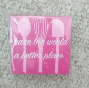Other - KITCHEN BAKER WOODEN WALL HANGING BAKE THE WORLD